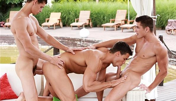 BelAmi - Fucking Kris Series - Kris Evans gets fucked raw by Adam Archuleta and Jean-Daniel